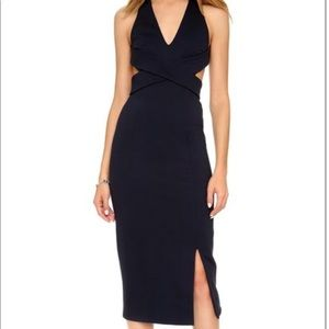 NEW Nicholas black halter dress open back